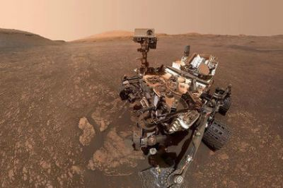 NASA showed Curiosity from Mars