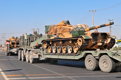 Turkish military reinforced tanks with flimsy armor and sent to fight in Syria